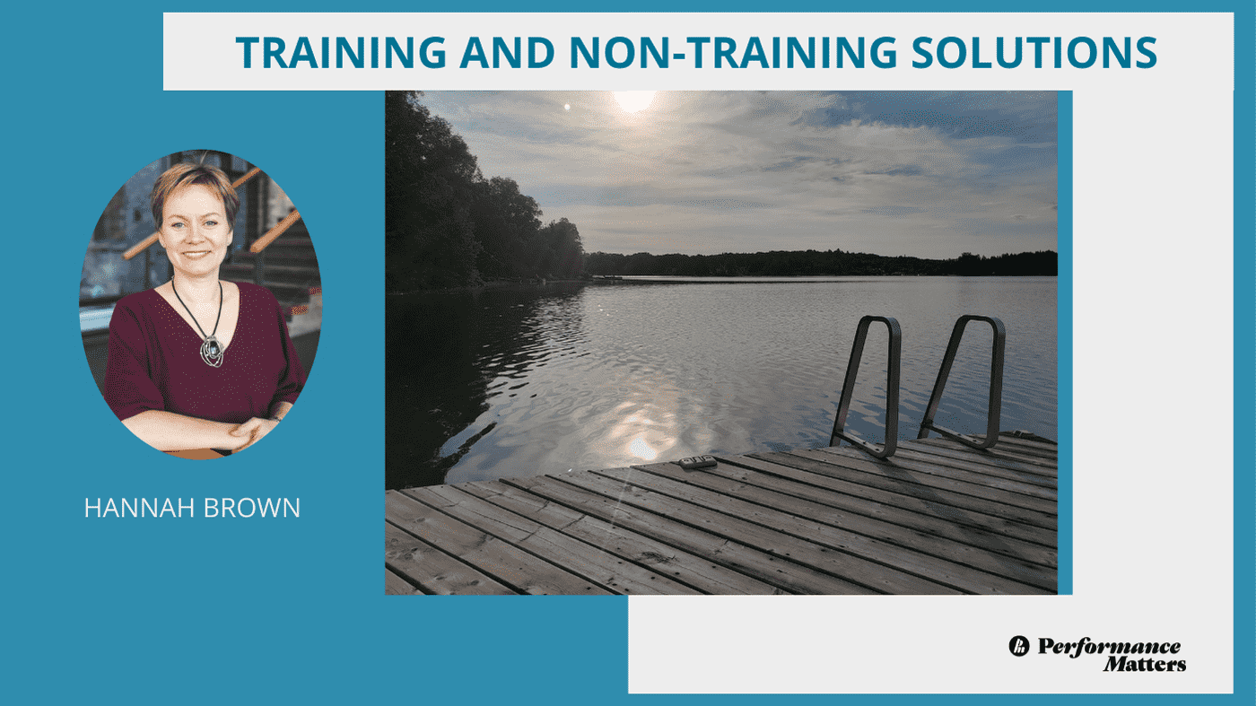 banner-for-training-and-non-traning-solutions-with-hannah-brown-in-front-of-a-lake-with-a-dock